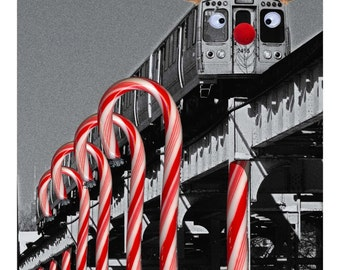 Chicago El Reindeer - Chicago -  Christmas Card