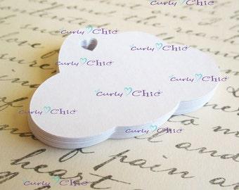 "32 Cloud Die Cut  2.50""x1.66""  Paper Clouds -Clouds tags -Cardstock Clouds die cuts -Clouds labels -Paper die cuts -Paper tags -Paper labels"