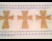 digital download cross faux smocking embroidery design