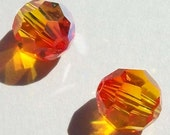 Swarovski elements crystal beads ROUND 5000 Crystal Beads Fire Opal -- Available in 4mm, 6mm and 8mm