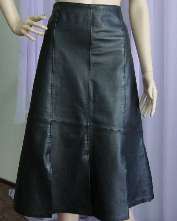 vintage leather skirt unique design styled in italy