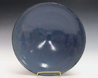 Ceramic and pottery deep blue ceramic bowl, home decoaration
