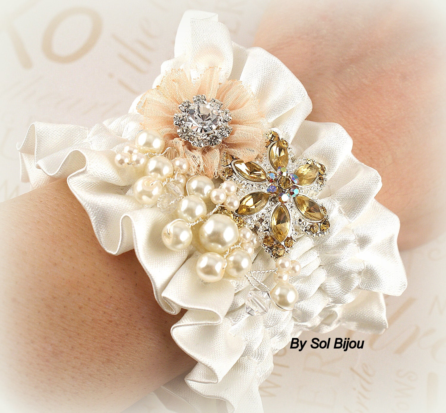 how to make a wrist corsage with elastic band video