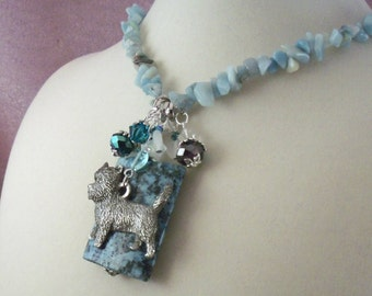 CAIRN Terrier -Norwich-Jewelry --jl7-  Necklace- SOLD - Jewelry - Dog  -  One of a Kind -   -Handcrafted -Last One