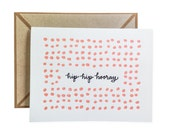 Hip Hip Hooray letterpress card - single