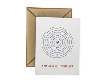 So Glad I Found You letterpress card - single
