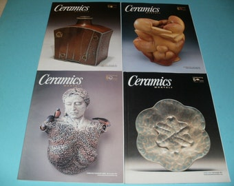 Group of Ceramics Monthly Magazine from 2003  - Pottery - Stoneware - Earthenware - Clay - Porcelain - Art