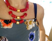 Statement necklace, big and bold, chunky, bib, Unusual, Modern, Unique