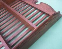 Decorative Wood Shelf Made Of Salvage Furniture