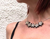 Glitter Stars Necklace in a choice of colours