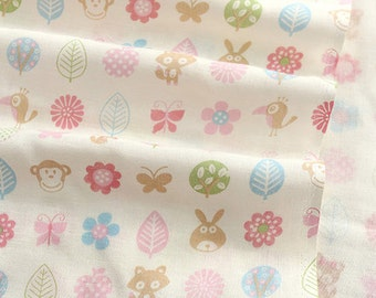 Sweet Pinks, Friends on Double Gauze 120cm WIDE, U007
