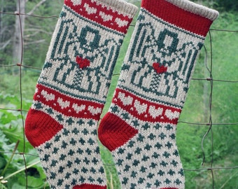ANGEL Downloadable Christmas Stocking Knitting Pattern