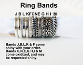 Sterling Silver Ring Band - Plain or Patterned - Great for Stacking