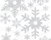 Snowflakes - Vinyl Snowflake Decals - Silver - Gold or White Snowflakes - choose 2 or 3 inch -  snowflakes - order as many as you want