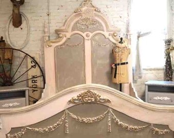Painted Cottage Shabby Chic French Bedroom Romantic Bed