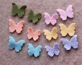 Vintage Carousel - Tiny Butterflies - 48 Die Cut Felt Shapes