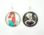 Ariel and Ursula Earrings - Good vs. Evil Earrings - Heroine vs. Villain - Princess - Little Mermaid