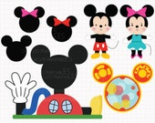 Disney Inspired Mickey Mouse Clubhouse Digital CLIP ARTS personal and commercial use for invitations, cupcake toppers, cards, party supplies