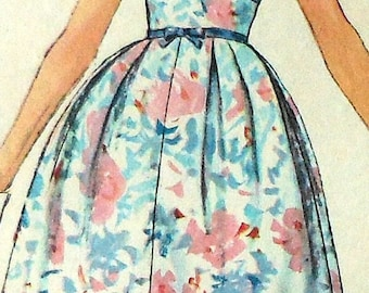 Vintage Dress Sewing Pattern Simplicity 2951 Size 11