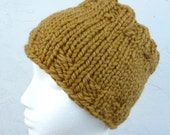 Yellow Gold (or Choose color) Wool HandKnit Dreadlock Tube Hat - Dread Wrap Hat - Men or Women by Tejidos on Etsy Made to Order