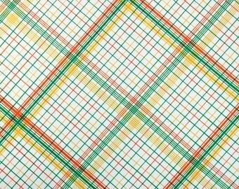 retro plaid, a vintage sheet fat quarter