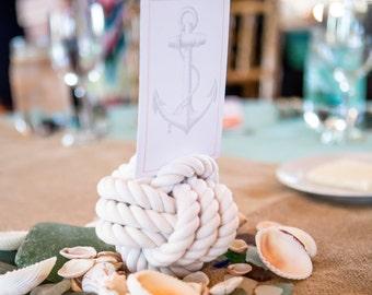 Wedding Knot 2 Nautical Monkey Fist Wedding Card Holders