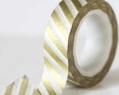 Christmas Holiday GOLD Stripe Washi Tape Crafting Masking Paper Tape from Pretty Tape
