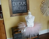 Vintage Inspired Dress Form Mannequin Girl's Princess Ballerina Tutu Pink and Grey Paris  Room Decor Princess Eiffel Towrer