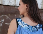 LAST SALE 50% off!!!!, under 50,    Azure tank with frower collar