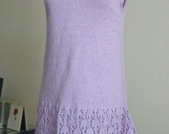 Lilac cotton tunic no. 230