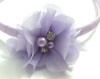 Lavender Chiffon Hair Flower Headband