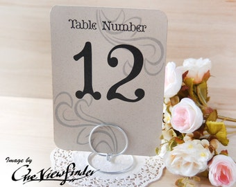 "Wedding table number holders , 5"" x 7"" card holder - set of 10"