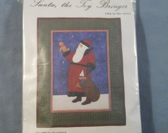 Santa The Toy Bringer Country Appliques Quilt Pattern #14 Olde Santa Series 1999