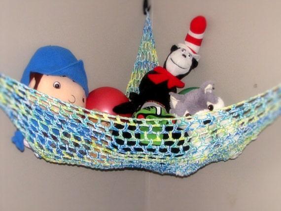 crochet toy hammock stuffed animal net nursery and childrens. Black Bedroom Furniture Sets. Home Design Ideas