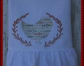 Valentine Holiday Flour Sack Towel (bird wreath)