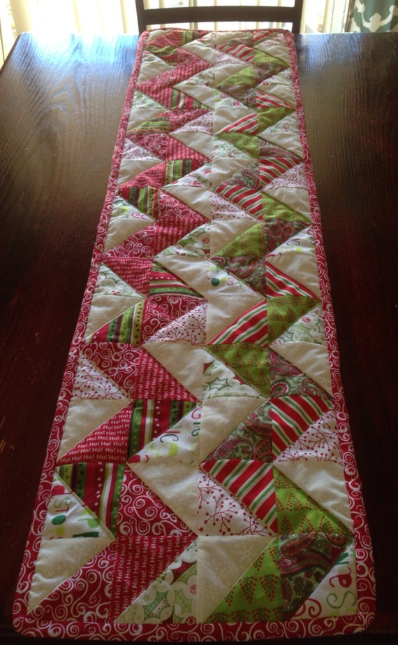 Chevron Quilted Christmas Table Runner By Davignon86 On Etsy