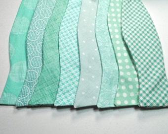 Mint Bow Ties Mint Freestyle Bow Ties Wedding Bow Ties Custom Bow Ties