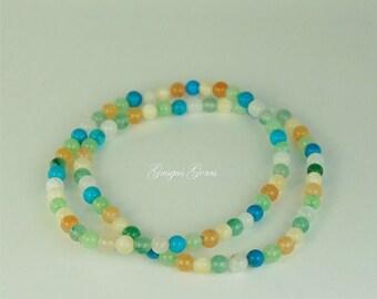 Aventurine 4mm Multi Colored Stretch Bracelets Beaded Bracelets Gemstone Bracelets Stackable Bracelets