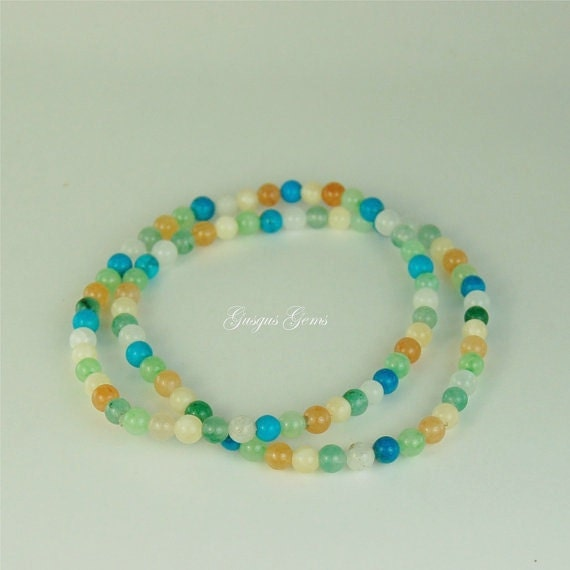 aventurine 4mm multi colored stretch bracelets beaded