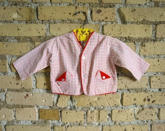 Vintage 1960s Child 12M Checkered Corduroy Jacket VGC, Jack and Jill Togs