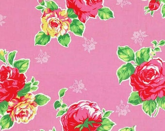 Flower Sugar 2014 Fabric by Lecien Large Floral Flowers 30967 on Pink