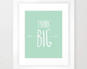 Think Big Motivational Typographic Print