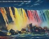 Souvenir Postcard Folder of Niagara Falls, Vintage View Postcards, Travel Souvenir, Circa 1940's, Nostalgic Americana, Instant Getaway