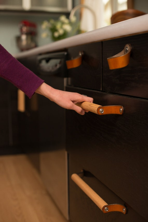 Kitchen Cabinet Handles Leather