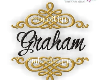 Font Frames Set - 8 of our Best Selling Machine Embroidery Monogram Font Frames- Instant Download Machine embroidery design