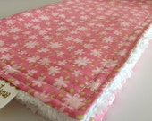 Baby Girl CHENILLE BURP CLOTH   - -  Pink  - -  Animal Parade