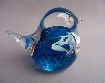 Hand Blown Art Glass Small Color Bird