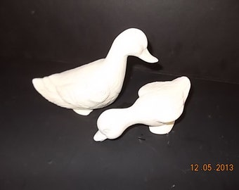 Ceramic Bisque Ducks Ready to Paint - Lot of 2