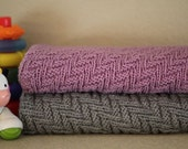 KNITTING PATTERN-Warm Hearted, Baby Blanket Pattern