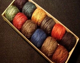 Valdani Perle Cotton Size 8 Embroidery Thread Country Lights Set 1 Sampler